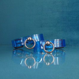 PVC Cufflets - Transparent Blue