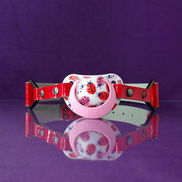 Lady Bug - Red Pacifier Gag