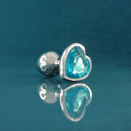 Jeweled - Light Blue Heart Plug