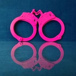 Uzi - Pink Steel Handcuffs