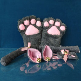 Faux Paw - Grey Kitty Set