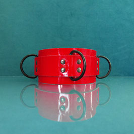 Candy Collar - Red Leather Collar
