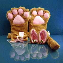 Faux Paw - Brown Kitty Set