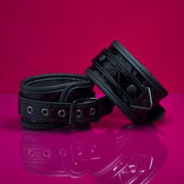 Hieroglyphs - Black PVC Cuffs