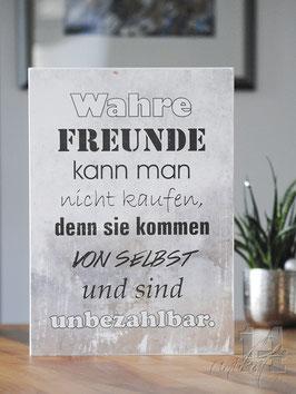 "Shabby Chic Schild - ""Freunde 2"""