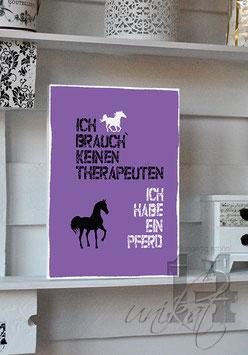 "Shabby Chic Schild - ""Pferd 3"""