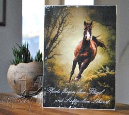 "Shabby Chic Schild - ""Pferd 2"""