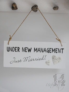 "Shabby Chic Schild - ""Just Married 1"""