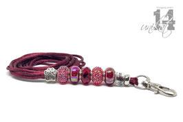 Exclusives Pfeifenband aus Textilschnur 159 -bordeaux/bordeaaux