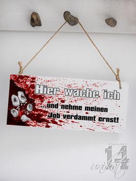 "Shabby Chic Schild - ""Wache 1"""