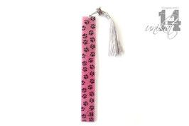 Trendiges Lesezeichen aus Resin - 3 schwarz/pink