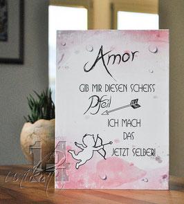 """Shabby Chic Schild - """"Liebe 6"""""""