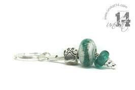 Schlüsselkette mit Glasperlen