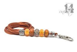 Exclusives Pfeifenband aus Textilschnur 158 - terracotta/orange