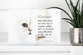 "Shabby Chic Schild -""Katze 2"""