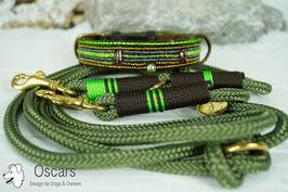 Perlenhalsband BigPearl-Grün