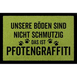 """Fussmatte """"Pfotengraffiti"""""""
