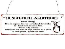 """Metall-Deko-Schild """"Hundegebell"""""""