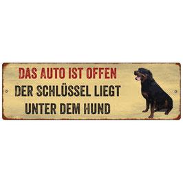 """Auto-Schild """"Das Auto ist offen..."""""""