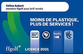 Licence ffgolf 2021 à partir du 4 decembre 2020