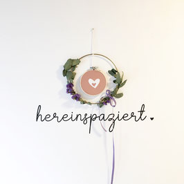 "Wandsticker ""hereinspaziert"""