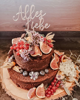 "CakeTopper ""Alles Liebe"""
