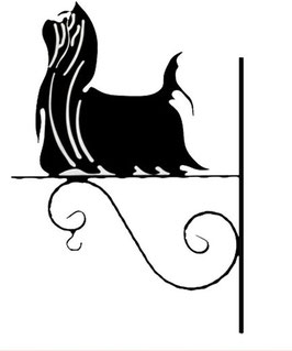 """Art:Nr:  III-86 -Blumenampel """" Yorkshire terrier - 1  """""""