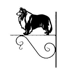 """Art:Nr: I-156- Blumenampel """"Schäferhund Collie langhaarig"""""""