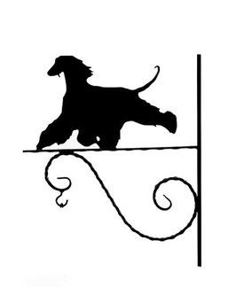"""Art:Nr:X-222 - Blumenampel """"  Afghanischer Windhund 1 """""""