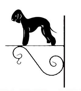 Art:Nr: III-9 - Blumenampel Bedlington Terrier