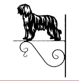 """Art:Nr: I-113b Blumenampel """"  Französischer Schäferhund Briard """""""