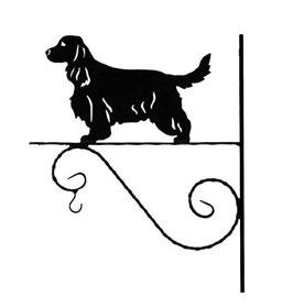 """Art:Nr: VIII-5 Blumenampel """"  Englisch Cocker Spaniel"""""""