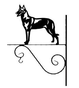 """Art:Nr: I-15-Blumenampel """"  Belgischer Schäferhund Malinois"""""""