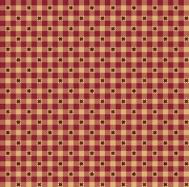 1576-88 LIBERTY STAR VICHY ROJO CON ESTRELLAS