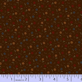 8283-0113  MARCUS PRIMITIVE THREADS MARRON FLORES DE COLORES