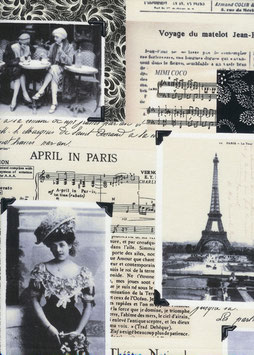 C7305 APRIL IN PARIS PHOTO COLLAGE CREMA