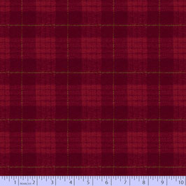 U089-0111 PRIMO PLAID FLANNEL MAPLE LAKE ROJO