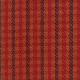 1055-27F WOOL NEEDLE VI FLANNEL CUADROS ESCOCESES NARANJA  Y MARRON