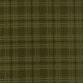 1057-17F WOOL NEEDLE VI FLANNEL CUADROS VERDE