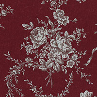 3115230 FLORAL COLLECTION-ANTIQUE ROSE GRANATE