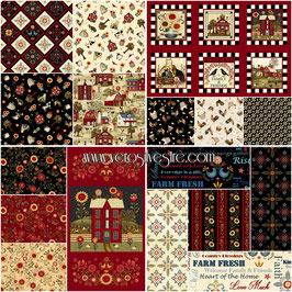 COUNT YOUR BLESSINGS LOTE 15 FAT QUARTERS Y 2 PANELES