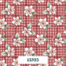 13705 RED BLOSSOM FLOR DEL MANZANO FONDO CUADROS ROJOS