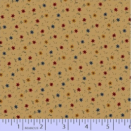 8283-0140  MARCUS PRIMITIVE THREADS CREMA FLORES DE COLORES
