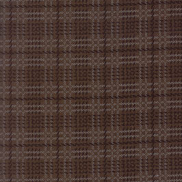 1057-15F WOOL NEEDLE VI FLANNEL CUADROS MARRON