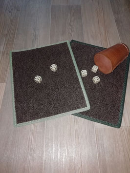 Würfelteppich braun/grün 2ér-Set