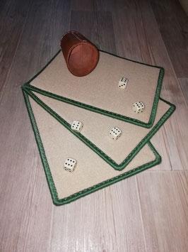 Würfelteppich beige/grün 3ér-Set