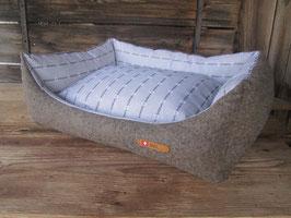Hundebett  'Bettli Hoselupf' grau-beige