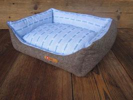Hundebett 'Bettli Hoselupf' blau