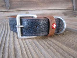 Halsband 'Ceneri' schwarz auf braun