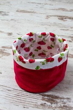 """Utensilo """"rot mit Erdbeeren"""" - groß"""
